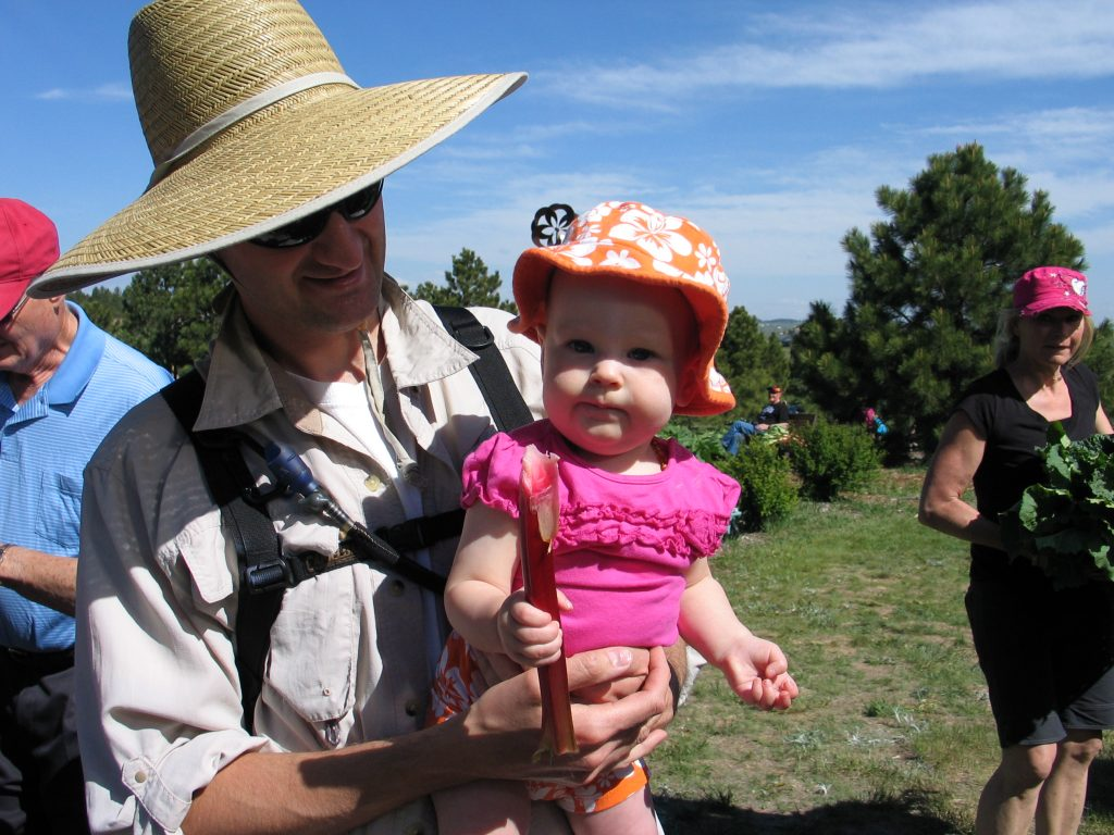 baby at the Rhubarb Harvest Festival