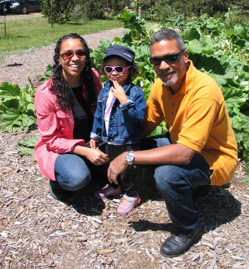 family at the Rhubarb Harvest Festival