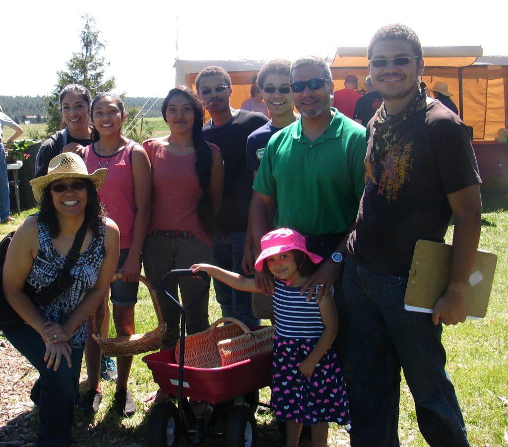 family visiting the Rhubarb Harvest Festival