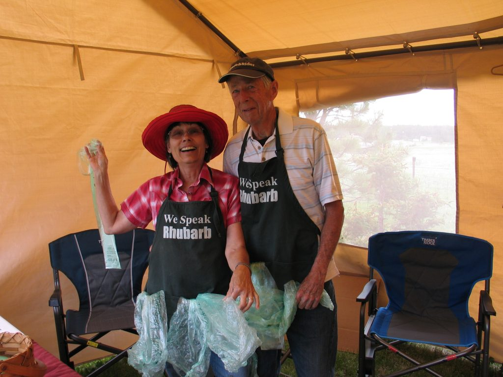 rhubarb sales tent
