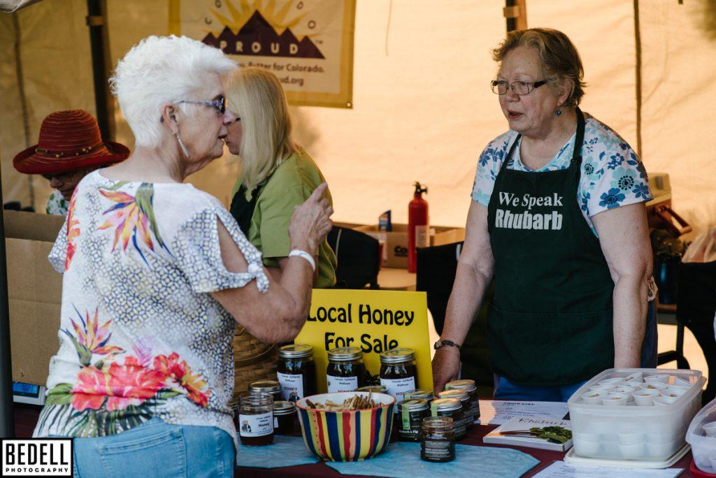 Rhubarb harvest tent Judy Augustine